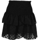 Neo Noir Carin Burnout Skirt Black